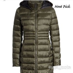 ❤️SALE❤️ Halogen Side Lace-Up Hooded Coat In Olive